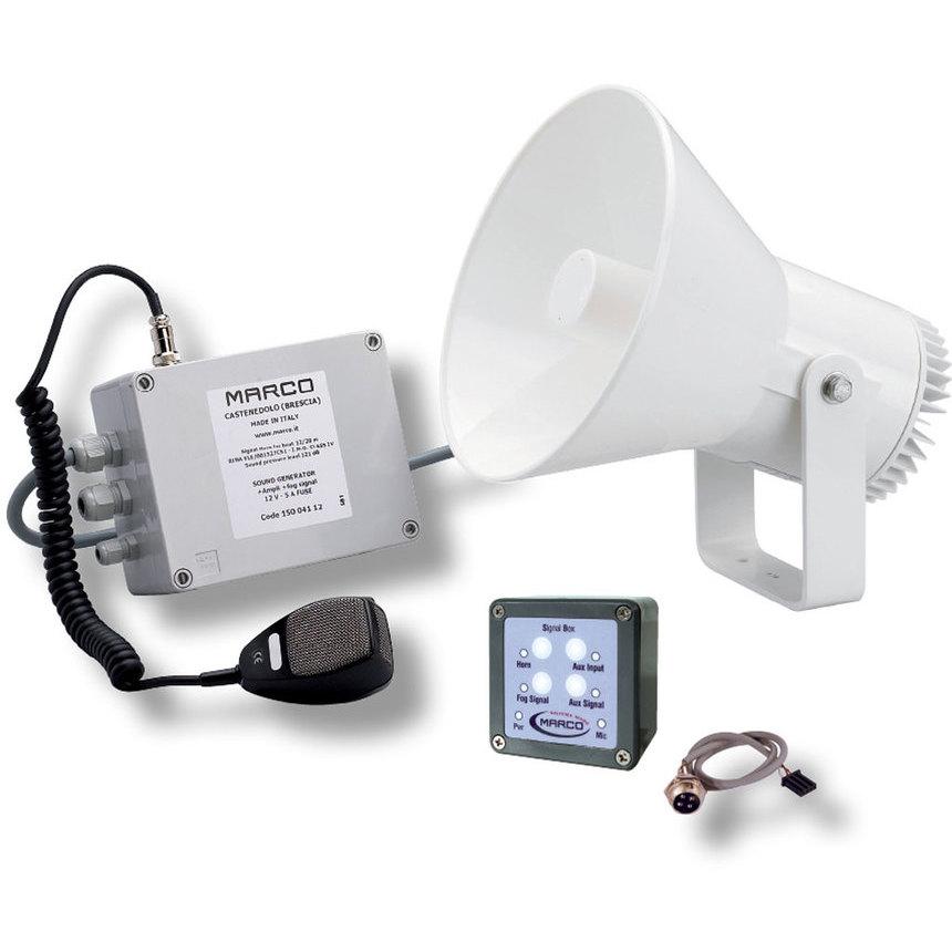 EW2-M fischio elettronico 12/20 m + amplificatore + nebbia