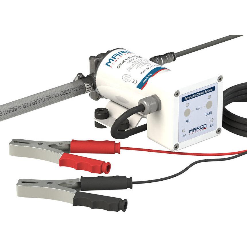 OCK1-E kit trasvase aceite/diesel,flujo reversible, 12/24V | MARCO SPA