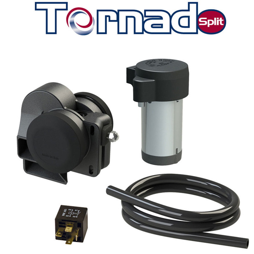 TORNADO SPLIT Compact twin tone horn with separated compressor