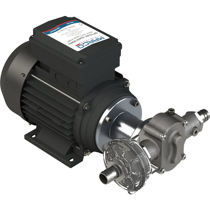 UP14/AC pompa ad ingranaggi in PTFE 44 l/min