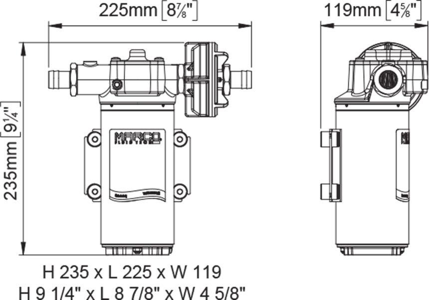 up14 bronze gear pump 12 2 gpm 12v 24v