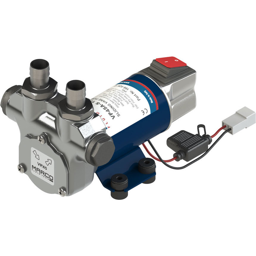 VP45A-S Vane pump with on/off switch45 l/min, brass fittings