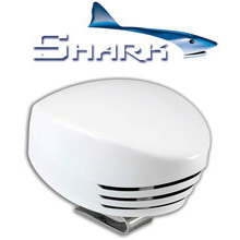 SHARK Single horn, white plastic, blister