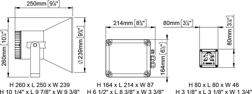 ew2 electronic whistle 12 20m fog signal 12v 24v marco spa. Black Bedroom Furniture Sets. Home Design Ideas